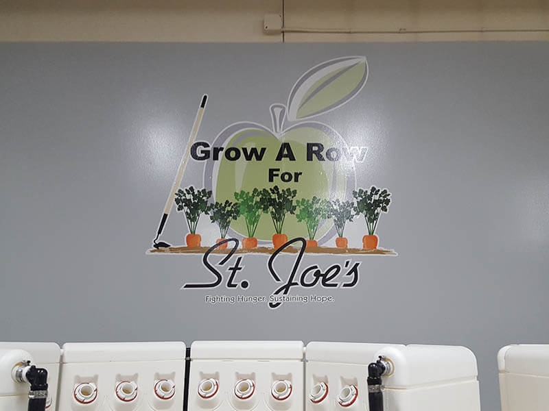 "Saint Joe's ""Grow A Row"" Wall Graphics"