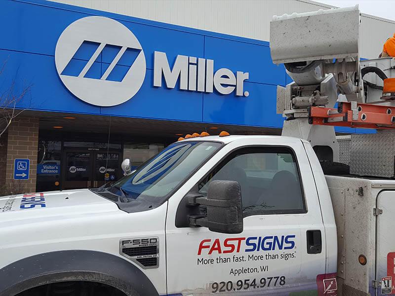 Building Sign for Miller