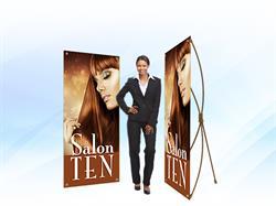 Salon Ten Bamboo Banner Stand