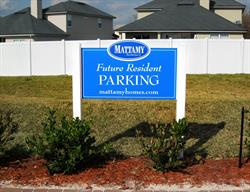 Customer Parking Sign for a Model Home