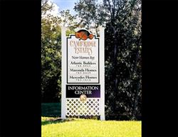 Custom Site Sign for a Local Community Designed and Installed by FASTSIGNS Baymeadows.
