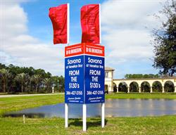 Custom Site Sign for a National Home Builder Created and Installed by FASTSIGNS Baymeadows