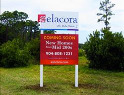 Custom Site Sign for a Home Builder Produced and Installed by FASTSIGNS Baymeadows.
