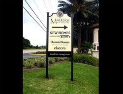 Custom Contour Cut Directional Site Sign  Produced and Installed by FASTSIGNS Baymeadows.