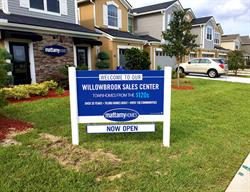 Custom Site Sign with Rider  for a Home Builder Produced and Installed by FASTSIGNS Baymeadows.