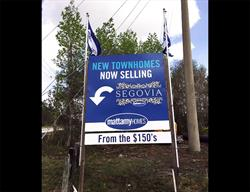 Large Custom Directional Site Sign Produced and Installed by FASTSIGNS Baymeadows.
