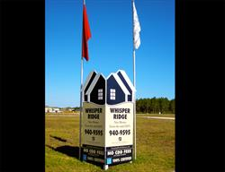 Custom V-Shape Site Sign with Dimensional Letters For a National Home Builder.