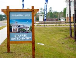 Custom Amenities  Site Sign for a Home Builder Produced and Installed by FASTSIGNS Baymeadows.