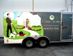 Trailer Wrap for a Landscaping Company