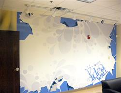 Dry Erase Decal Applied to Wall