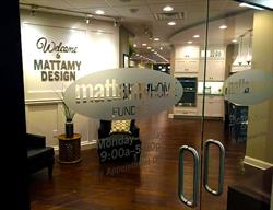 Etched Vinyl Decals with Dimensional Letters