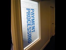 Printed Etched Vinyl On Glass