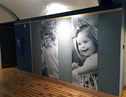 Large Murals Mounted to Foam PVC and Mounted to Wall