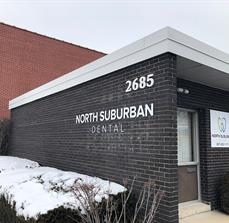 North Suburban dental Building Letters