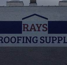 Rays Roofing Company Painted Letters
