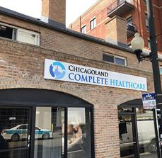 Chicagoland Complete Healthcare Building Sign