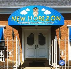 New Horizon entrance sign