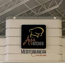 Aya Kitchen Mediterranean Cuisine illuminated ID sign