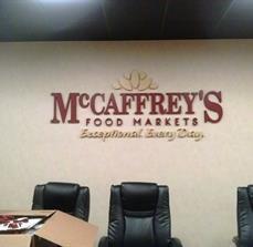 McCaffrey's Food Market Dimensional Lettering