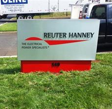 Reuter Hanney Monument Sign with Dimensional Letters