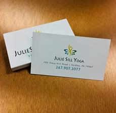 Julie Sill Yoga Business Cards