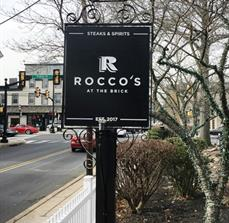 Roccos at the brick ID Sign