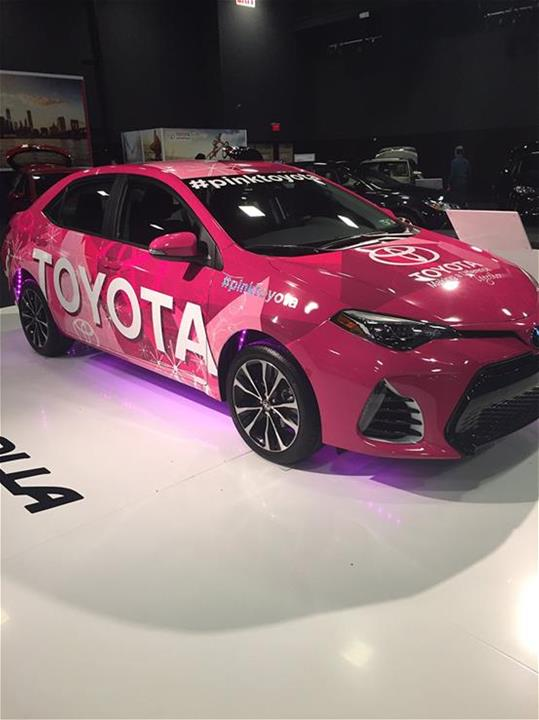 2016 Breast Cancer Awareness Toyota Camry Vehicle Wrap