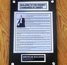 Custom Stand-Off Newspaper Plaque