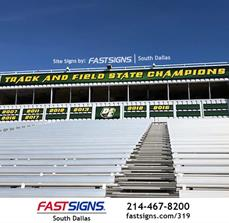 School Stadium Signs by FASTSIGNS South Dallas