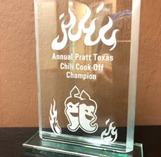 Custom Engraved Acrylic Glass Award by FASTSIGNS Dallas