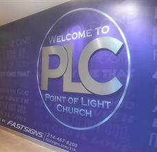 Church Wall Mural with Dimensional Letters