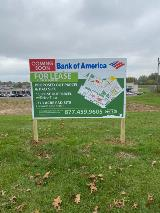 Investment Business For Lease Post and Panel Sign