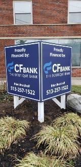 Property Management Company V Shaped Site Sign