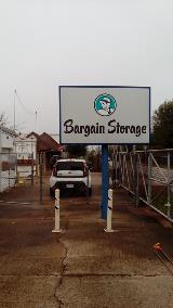 Custom LED illuminated pole sign for storage business