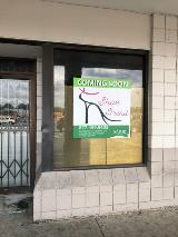Coming soon new business vinyl decal sign