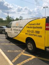 Vehicle wrap for property management business