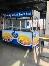 Vinyl retail cart wrap for stadium and events