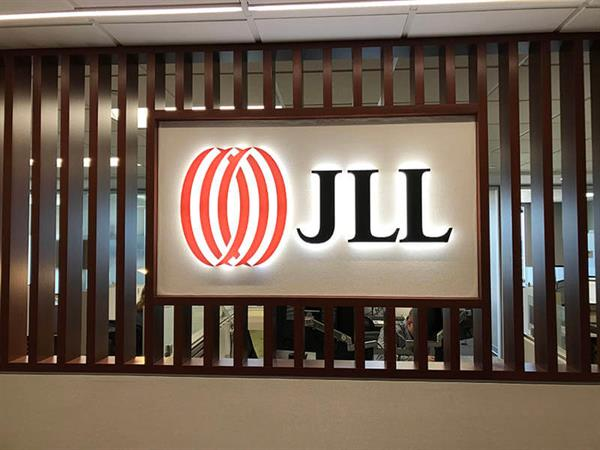 JLL Halo Lit Channel Letters Lobby