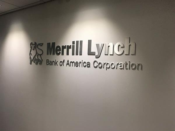 Merrill Lunch Brushed Aluminum Dimensional Letters