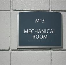 Mechanical Room Braille Wall Sign