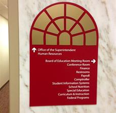 Superintendent Office Braille Wall Sign