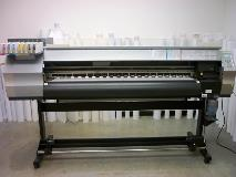 Solvent printer that use to produce most of the banners and roll to roll prints.