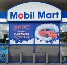 Mobile Mart Car Wash Perforated Window Vinyl