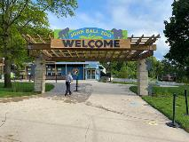 John Ball Zoo Entrance with Cubs - August 2020