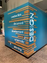Dan Vos Dimensional Letters- Teal Wood Wall2 - July 2020