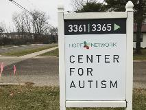 Hope Network Center for Autism Sign with posts - Dec 2019