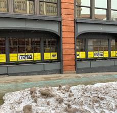 LaughFest Central Window Graphics