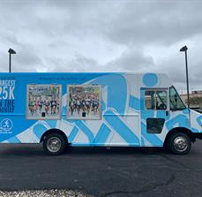 Amway River Bank Info Truck wrap