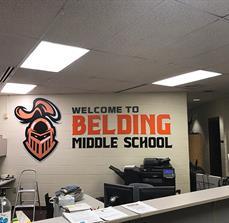 Belding Middle School Dimensional Letters