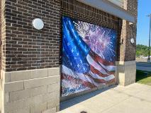 Tanger Outlets Floating American Flag Mural - July 2020